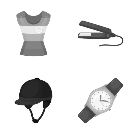 sport, salon, hairdresser and other monochrome icon in cartoon style. time, minutes, trade icons in set collection.