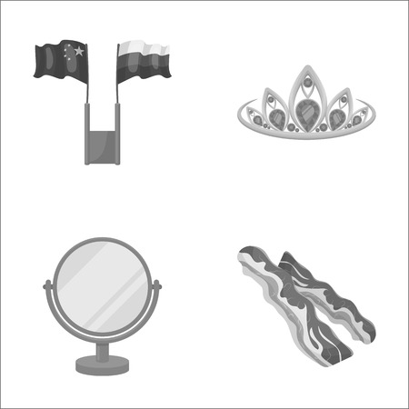 business, travel, achievements and other monochrome icon in cartoon style.food, pork, trade, icons in set collection.