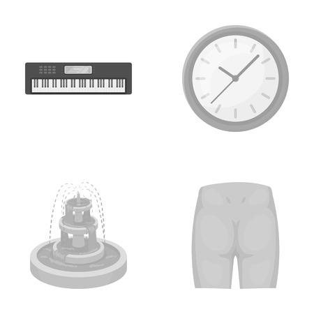 vermaak, concert, geneeskunde en ander zwart-wit pictogram in cartoon style.loin, pijn, informatie, iconen in set collectie.