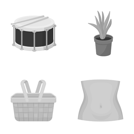 Business, nature, concert and other monochrome icon in cartoon style.belly, waist, medicine, icons in set collection. Illustration