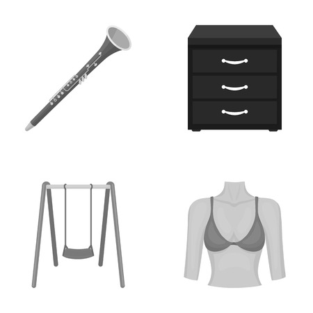図、医学、貿易、他のモノクロ アイコン漫画 style.torso, 胸, 葉のアイコン セットのコレクション。  イラスト・ベクター素材
