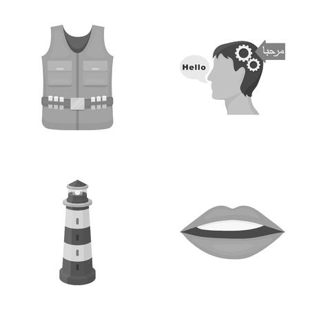 비즈니스, 생태학 의학 및 만화 스타일의 다른 단색 아이콘. 치아, 기관, 립스틱, 아이콘 컬렉션에서 설정합니다.