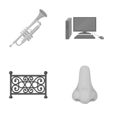carrier, business, entertainment and other monochrome icon in cartoon style.nostrils, medicine, leisure, icons in set collection. Иллюстрация