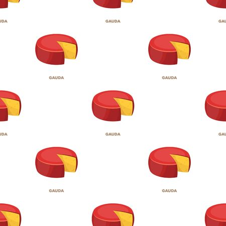 Gauda.Different kinds of cheese single icon in cartoon style vector symbol stock illustration .
