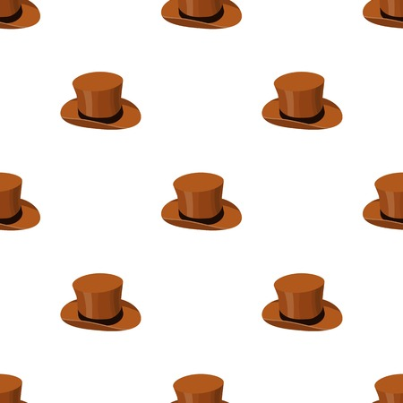 Top hat icon in cartoon style background