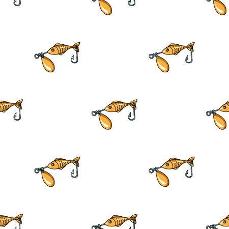 Fishing bait icon in cartoon style isolated on white background. Fishing symbol stock vector illustration. Illustration