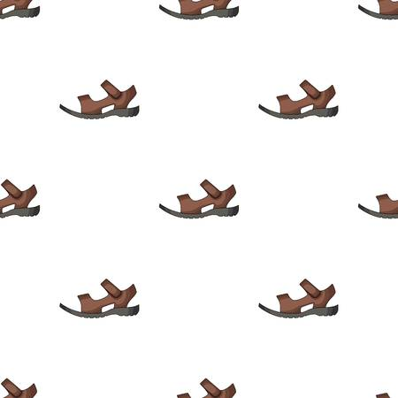 82828954 - Men summer brown leather sandals on a bare foot.Different shoes  single icon in cartoon style vector symbol stock web illustration. 5d85b6896b