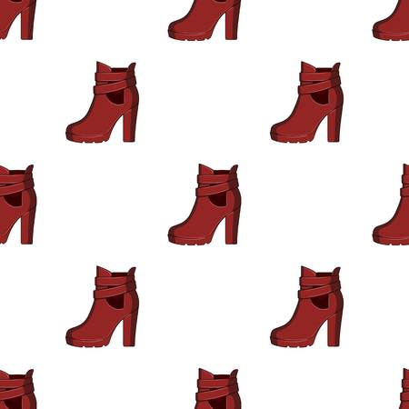 High women red shoes for everyday wear .Different shoes single icon in cartoon style vector symbol stock web illustration. Ilustração