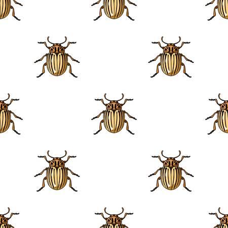 Colorado icône de scarabée dans le dessin de dessin animé isolé sur fond blanc. symbole des insectes illustration vectorielle de stock Banque d'images - 82905255