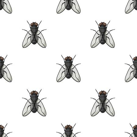 Fly icon in cartoon design isolated on white background. Insects symbol stock vector illustration. Zdjęcie Seryjne - 82958820