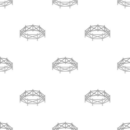 흰색 배경에 고립 된 만화 디자인의 목장 아이콘. 경마장 및 말 기호 주식 벡터 일러스트 레이 션.