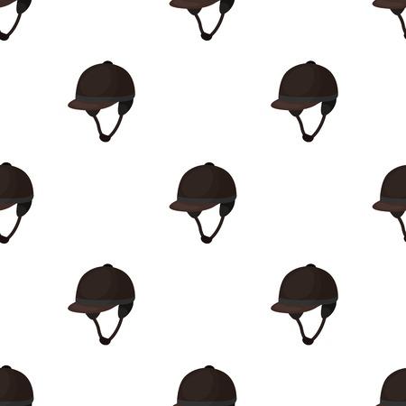 Jockeys helmet icon in cartoon design isolated on white background. Hippodrome and horse symbol stock vector illustration.