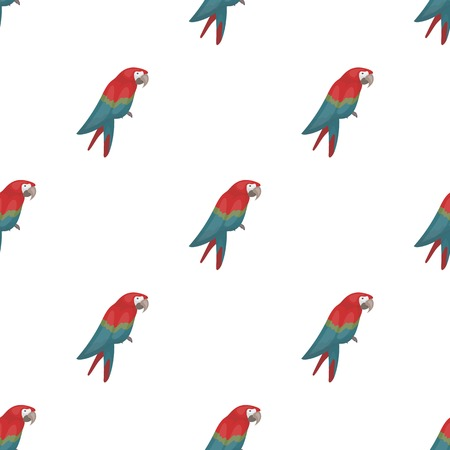 Pirates parrot icon in cartoon style isolated on white background. Pirates symbol vector illustration.