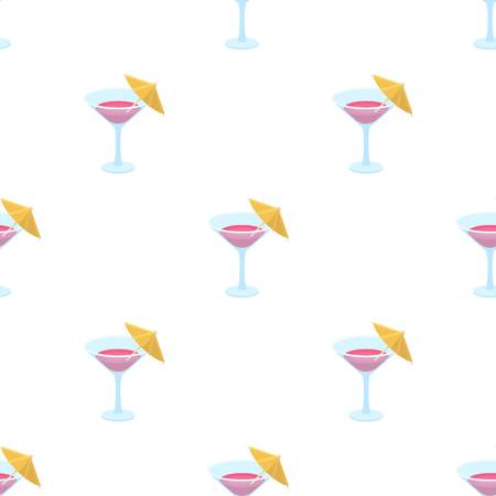 Glass with a cocktail.Party and parties single icon in cartoon style vector symbol stock web illustration. Illustration