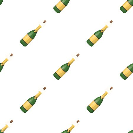 A bottle of champagne with a cork.Party and parties single icon in cartoon style vector symbol stock web illustration. Illustration
