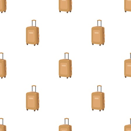jorney: Travel luggage icon in cartoon design isolated on white background. Rest and travel symbol stock vector illustration.