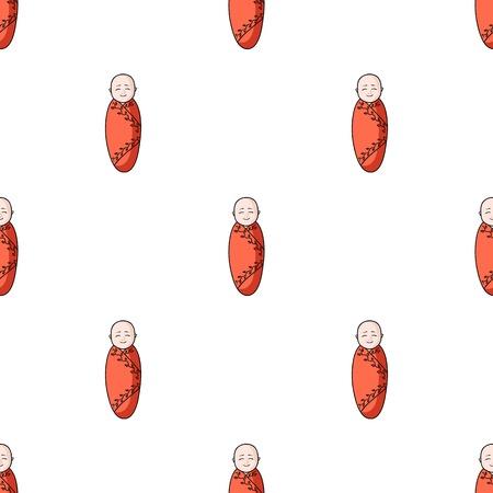Infant icon in cartoon style isolated on white background. Baby born symbol stock vector illustration. Illustration