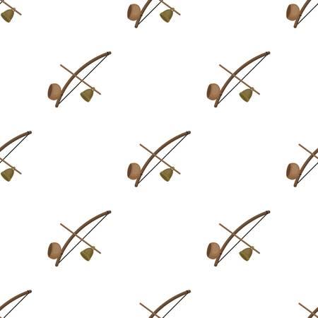 Berimbau icon in cartoon style isolated on white background. Brazil country symbol stock vector illustration.