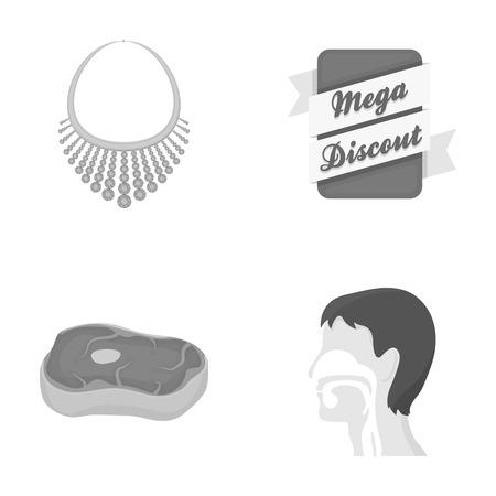 Bedrijfsleven, producten, medicijnen en andere pictogrammen in zwart-witstijl.