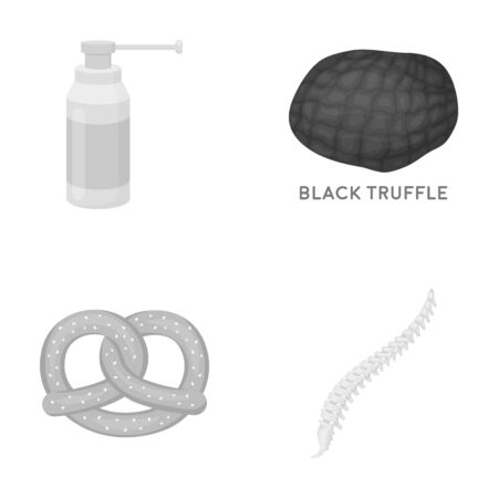 A scoliosis, business, cooking and other  icon in monochrome style.skeleton, ridge, treatment, icons in set collection illustration.