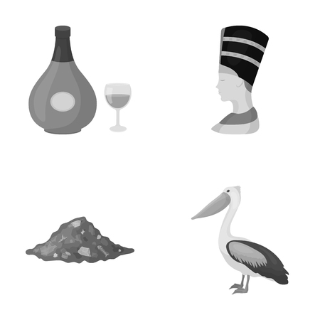 antiquity: business, history, antiquity and other web icon in monochrome style.fauna, ecology, trade, icons in set collection. Illustration