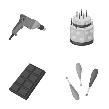 drill: entertainment, cooking, business and other web icon in monochrome style.skittles, juggler, circus icons in set collection.