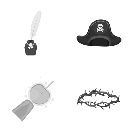 history, cinema, medicine and other web icon in monochrome style.punishment, self-flagellation, religion icons in set collection. Illustration