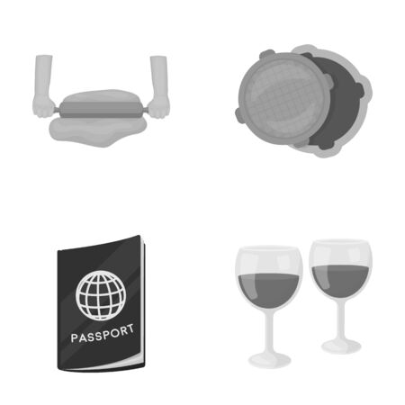 entertainment, business, tourism and other  icon in monochrome style.wine glasses, wine, drink icons in set collection. Фото со стока