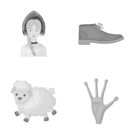 business, travel, cinema and other  icon in monochrome style.alien, fantasy, fiction, icons in set collection Stock Photo