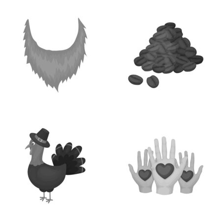 celebration, entertainment, business and other web icon in monochrome style.heart, greeting, friendship icons in set collection. Illustration