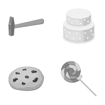 cooking, building, business and other web icon in monochrome style.wand, dessert, goodies, icons in set collection. Ilustração