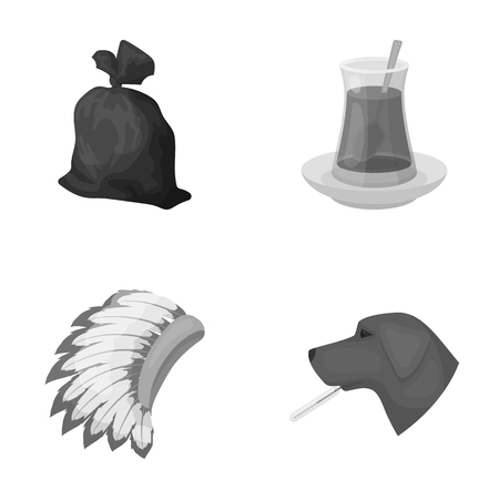 hamlet: rest, ecology, animals and other web icon in monochrome style. thermometer, illness, hamlet icons in set collection.