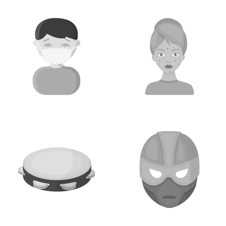 business, medicine, education and other web icon in monochrome style., mask, Superman, cinematography, icons in set collection.