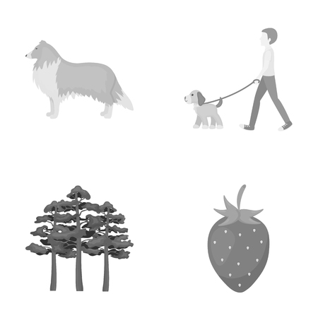 ecology, business, entertainment and other web icon icons in set collection.in monochrome style.leaf, dessert, rest, Illustration