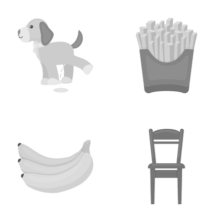 business, trade, fast food and other web icon in monochrome style. Tool, wooden, furniture, icons in set collection.