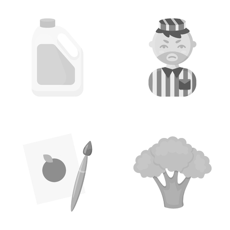 violator: useful, business, ecology and other web icon in monochrome style.cabbage, color, vegetables, icons in set collection. Illustration