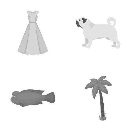 레저, 취미, 섬유 및 흑백 스타일에 다른 웹 아이콘., 공장, 축 하, 관광, 아이콘 컬렉션에 설정합니다.