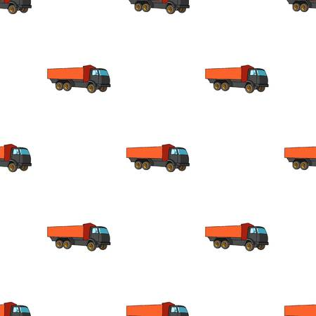 Pickup rural truck. Tow auto. Truck with orange body for the transport of agricultural crops.Agricultural Machinery single icon in cartoon style vector symbol stock illustration. Illustration