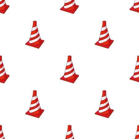 Traffic cone icon in cartoon style isolated on white background. Architect symbol stock vector illustration. Illustration