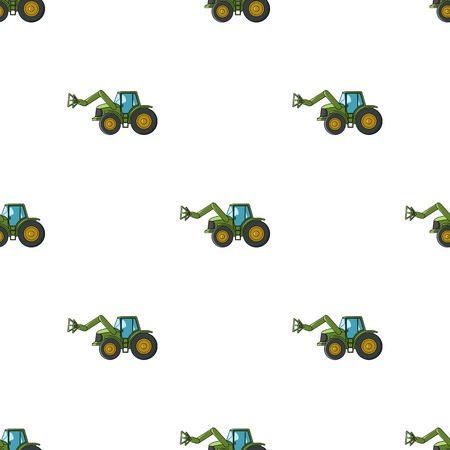 Combine with long hydraulic legs to capture the hay.Agricultural Machinery single icon in cartoon style vector symbol stock illustration.