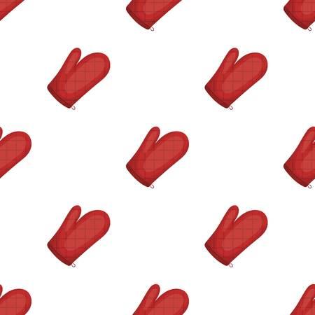 mitt: Kitchen glove.BBQ single icon in cartoon style vector symbol stock illustration web. Illustration