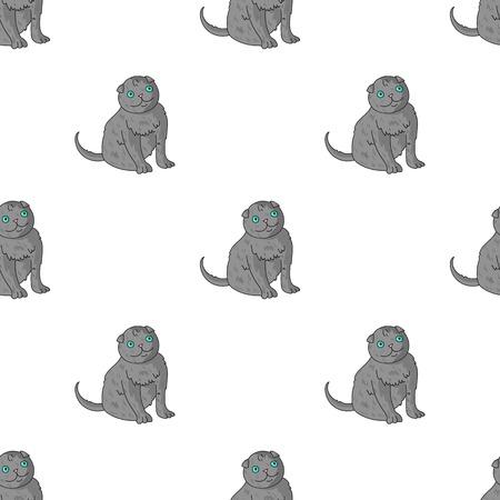 Scottish Fold icon in cartoon design isolated on white background. Cat breeds symbol stock vector illustration.