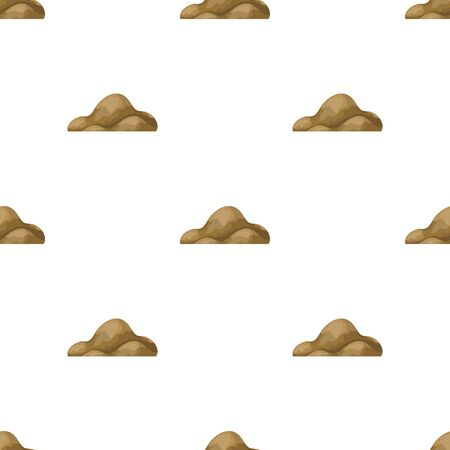 cobble: Low brown sand mountain.Different mountains single icon in cartoon style vector symbol stock illustration.