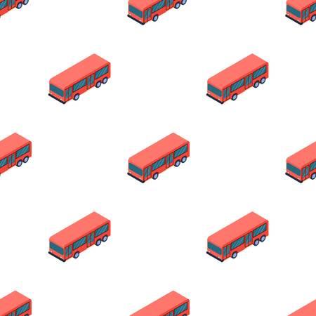 Bus icon in cartoon style isolated on white background. Transportation symbol stock vector illustration. Illustration
