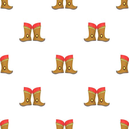mongols: Military boots of the Mongols - part of the national dress of Mongolia. Mongolia single icon in cartoon style vector symbol stock illustration.