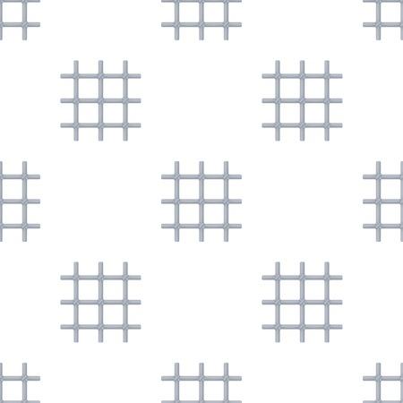 Gitter in der Zelle des Gefangenen. Eine Metall-Tür zu halten criminals.Prison einzigen Symbol in Cartoon-Stil Vektor-Symbol stock Web-Illustration. Standard-Bild - 83170186