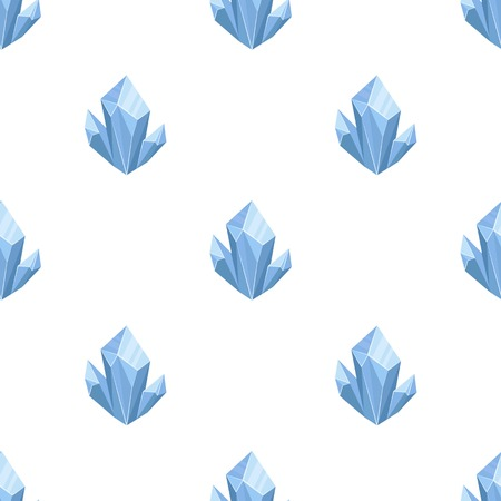 Blue natural mineral icon in cartoon style isolated on white background. Precious minerals and jeweler symbol stock vector illustration.