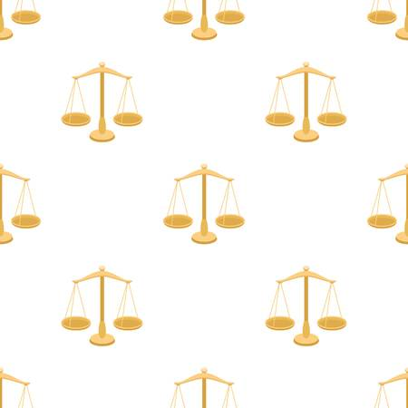scale of justice: Scales for jewelry. Weights for measuring punishment.Prison single icon in cartoon style vector symbol stock illustration. Illustration