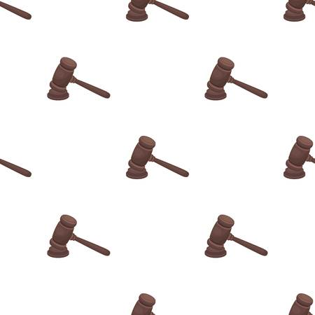 Judge wooden hammer. Hammer for deducing the verdict to the criminal.Prison single icon in cartoon style vector symbol stock illustration.