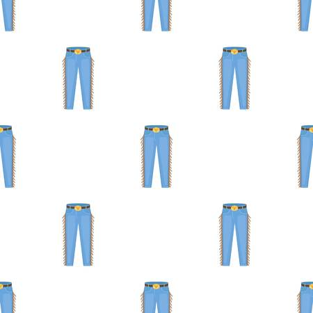 Cowboy jeans icon in cartoon style isolated on white background. Rodeo symbol stock vector illustration.